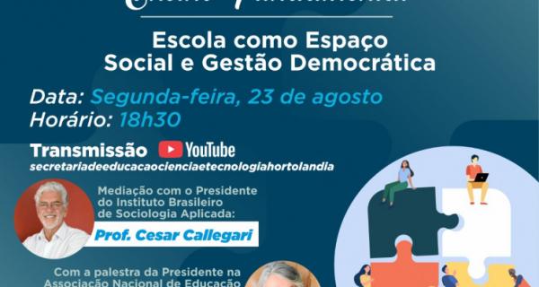 Gestão democrática da escola será debatida em Hortolândia nesta segunda-feira (23/08)