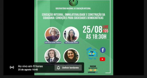 Curso de extensão universitária da Federal da Bahia debate educação integral e cidadania nesta quarta-feira (25/08)
